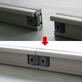カーブL90部品:内蔵マグネット式で連結