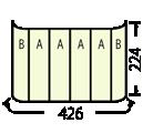 エキスパンドマグネット3x4:印刷寸法