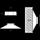 吸盤ナット(4個)部品:寸法図