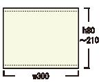 ロイヤルスクリーン300:メディア寸法
