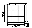 エスリブ両面本体:寸法詳細