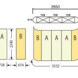 エキスパンドMS3×3(728×3枚+674×2枚)