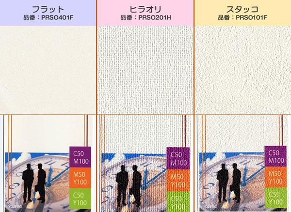 プリント壁紙素材の種類:3種類