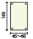 XバナーG16:w45~60印刷メディア