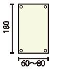 XバナーG18:w60~80印刷メディア