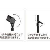 キャッチスタンドA1、B1部品:支柱、角度調整部