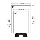 キャッチスタンドA1、B1部品:A1、B1各サイズ