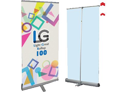 ロールアップLG100:ライトグレートバナー