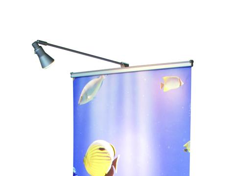 ロールアップ用LEDスポットライト:設置例