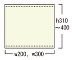 アルファバナー:メディア寸法、高さ400cm