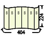 エキスパンドMC3x4カーブ:印刷寸法