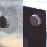 吸盤ナット(4個):ガラス面設置