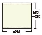 ロイヤルスクリーン240:メディア寸法