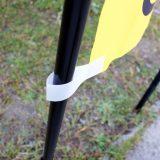 のぼり旗部品:ブラック仕様のポール