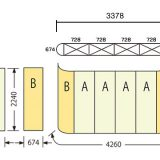 エキスパンドMS3x4:寸法(728x4枚+674x2枚)