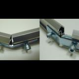 ブルーバナー連結金具L型 下部バー取付例