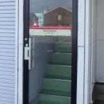 アオモリ総合保険企画様 入口ドア 塩ビ出力+型抜き