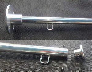 フラッグポールB-65B-85:上部袋フラアッグとハトメ紐付きフラッグが可能
