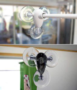 ウインドウ吸盤フラッグアームwf-40:ガラス表裏