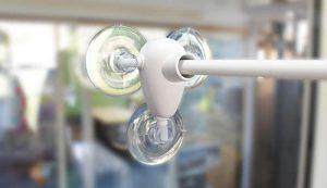 ウインドウ吸盤フラッグアームwf-40:ガラス表面